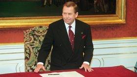 Někdejší prezident Václav Havel byl u vstupu ČR do NATO.