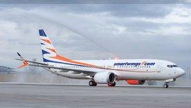 Boeing 737 MAX 8 v barvách společnosti Smartwings