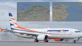 Letadla Boeing 737 MAX 8 společnosti Smartwings místo Prahy skončila v Tunisu a Ankaře
