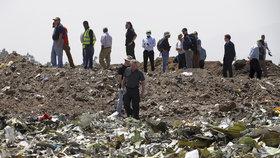Snímky letecké havárie v Etiopii