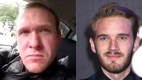 Střelec Brenton Tarrant před vražděním v mešitě jmenoval youtubera PewDiePie.