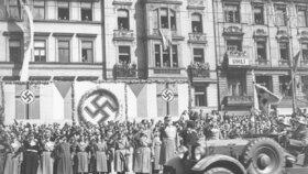 Vojenská přehlídka v Praze v dubnu 1939