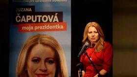 Prezidentské volby na Slovensku: Zuzana Čaputová po zveřejnění prvních neoficiálních výsledků (16. 3. 2019)
