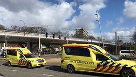 Nejméně jednu oběť si vyžádala střelba v nizozemském Utrechtu. (18.3.2019)