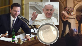 Předsedu Poslanecké sněmovny Radka Vondráčka čeká soukromá audience u papeže. Kytaru prý nechá doma, Svatému otci veze knihu i stříbrnou minci svaté Anežky.