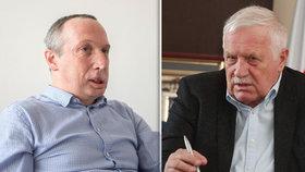 Otec a syn: Poslanec Václav Klaus mladší (vlevo) a bývalý prezident Václav Klaus