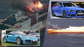 U břehů Francie se potopila loď. Na palubě přepravovala 2000 aut včetně sedmatřiceti zakázkových porsche.