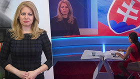 Kandidátka na prezidentku Slovenska Zuzana Čaputová vystoupila v pořadu Interview ČT24