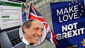 Přes 2 miliony Britů včetně celebrit se připojilo k podpisu petice za zrušení brexitu.