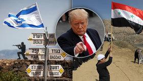 Americký prezident Donald Trump vyzval k uznání izraelské suverenity na Golanských výšinách.