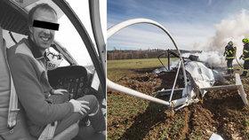 Tragická nehoda vrtulníku na Náchodsku
