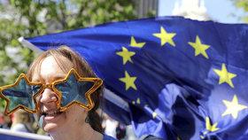 Londýnem prošel pochod za nové referendum o brexitu (23. 3. 2019).