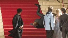 Petr Vančura nezvládl příkré schody.