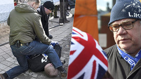 Finský ministr zahraničí Timo Soini se na mítinku stal terčem útoku agresora, který ho chtěl udeřit