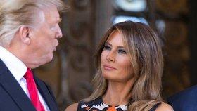 První dáma USA Melania Trumpová s manželem, prezidentem Donaldem Trumpem.