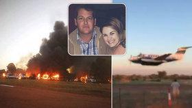 Pilot chtěl s letadlem zavraždit manželku. Zabil jen sám sebe.