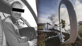 Zkušený pilot Michal B. zemřel při pádu výcvikového vrtulníku. Zůstaly po něm dvě dcerky