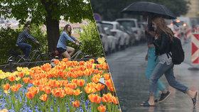 První dubnový týden přinese doslova aprílové počasí: Chvíli slunečno, chvíli déšť.