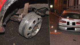 Muž jel bez pneumatiky 4 kilometry