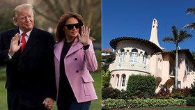 Prezident Donald Trump a první dáma Melania pravidelně vyrážejí na Floridu. Trumpová v oblíbeném rezortu Mar-a-Lago tráví každou volnou chvilku.