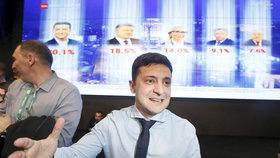 Volodymyr Zelenskyj coby prezidentský kandidát na Ukrajině