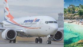 Leteckých zájezdů k moři bude kvůli problémům s boeingy méně, varují cestovní kanceláře