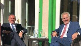 Andrej Kiska a Miloš Zeman na Štrbském plese