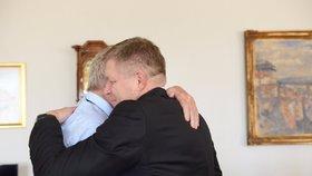 Miloš Zeman a expremiér Robert Fico