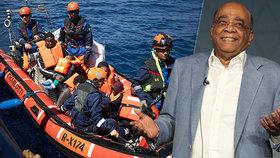 Súdánsko-britský miliardář Mo Ibrahim, žijící v Monaku, promluvil o migraci