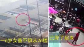Šokující video: Dívka (6) vypadla z 26. patra a odešla po svých!