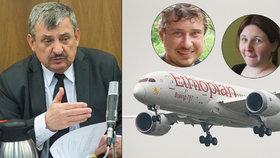 První slova poslance Hrnka, který přišel při letecké tragédii o rodinu: Soustrast i nenávistné vzkazy