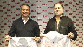 Dámská košile zůstává v redakci, vydražil ji totiž šéfredaktor Radek Lain, druhou, pánskou, si odnesl Roman Dell