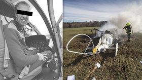 Michal zemřel při letecké havárii