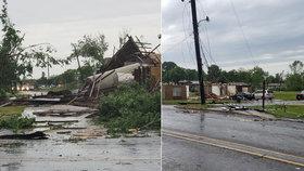Jih Spojených států zasáhly v sobotu večer a v noci na neděli silné bouře, které na některých místech doprovázela tornáda a bleskové záplavy (14.4.2019)