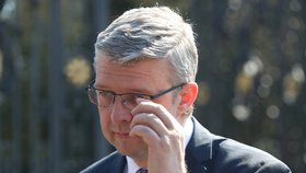 Prezident Zeman přijal v Lánech Karla Havlíčka (15. 4. 2019)
