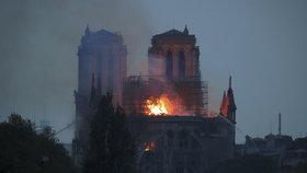 V pařížské katedrále Notre-Dame vypukl požár