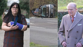Žena, do níž naboural Philip, je sama před soudem kvůli dopravní nehodě.