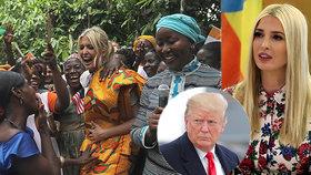 Ivanka Trumpová na cestě po Africe, kde podporuje hospodářskou emancipaci žen. Podle tisku je pokrytec, (17.04.2019).
