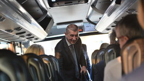 Premiér Andrej Babiš při výjezdu vlády do Jihočeského kraje