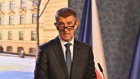 Premiér Andrej Babiš po jednání vlády