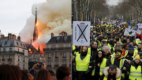 Žlutým vestám prý vadí, že na jejich požadavky se peníze nenašly. Na obnovu Notre-Damu se jich naopak schází hodně.