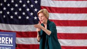 Demokratická adeptka na prezidentský úřad Elizabeth Warrenová