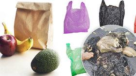 Igelitové, nebo papírové tašky? Odborníci se přiklánějí k plastovým - pokud bude člověk recyklovat