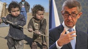 Premiér Andrej Babiš (ANO) popsal detaily jeho plánu pro výstavbu dětského centra pro sirotky v Sýrii (foto dětí je ilustrační)