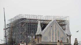 Nad pařížskou katedrálu Notre-Dame, které minulý týden shořela střecha i s krovem, začali lezci natahovat provizorní ochrannou plachtu. Meteorologové totiž na následující dny předpovídají vydatný déšť. (23. 4. 2019)