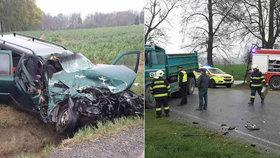 Při tragické nehodě zahynul na Jihlavsku řidič a malý chlapec.