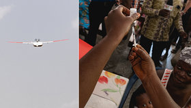V západoafrické Ghaně budou léky, vakcíny a krev rozvážet drony.