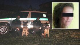 Unesenou Zuzanu zachránili policejní psovodi a jejich čtyřnozí kolegové.