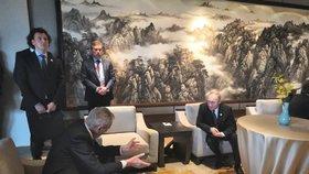 Český prezident Miloš Zeman a ruský prezident Vladimir Putin (27. 4. 2019)