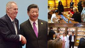 Prezident Zeman a jeho choť Ivana Zemanová na návštěvě Číny (27. 4. 2019)